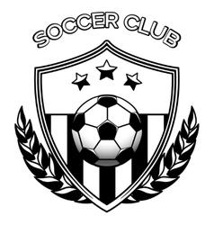 Soccer club logo on white vector