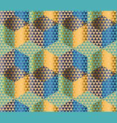 geometry motif in luxury style seamless pattern vector image