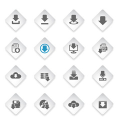 Download icon set vector