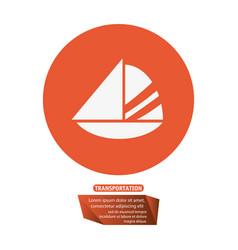 sailing boat transport pictogram vector image