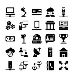 Network and communication icons 9 vector