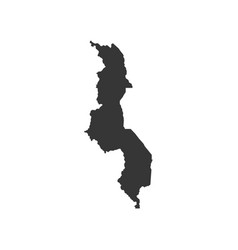 Malawi map outline vector