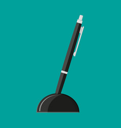ball point pen on a stand vector image