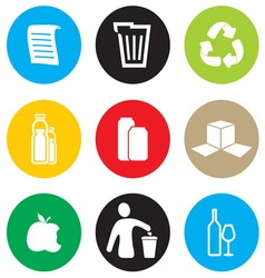 Recycling icon set vector