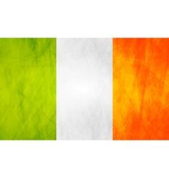 Irish grunge flag vector