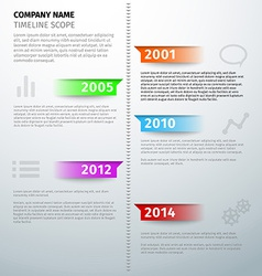 Timeline text visual infographics template vector