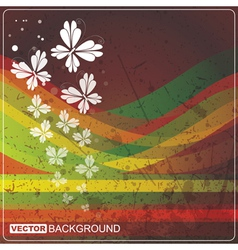Grunge card with butterflys vector image