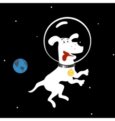 Dog in space vector