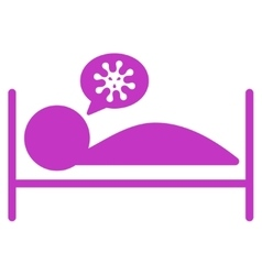 Patient bed icon vector