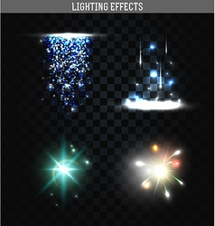 Set of lighting isolated effects magic bright vector