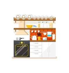 Kitchen flat style vector