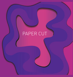 Abstract liquid paper cut background papercut vector