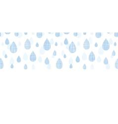 Abstract textile blue rain drops horizontal vector