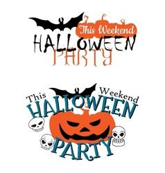 Amazing happy halloween party invitation vector