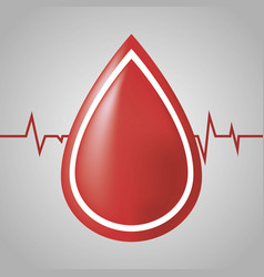 Blood drop icon vector
