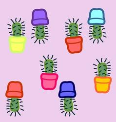 Cactus seamless 5 vector