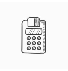 Cash register sketch icon vector image