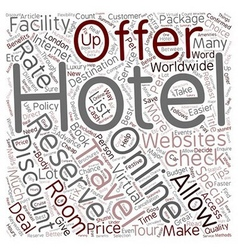 Cheap London Hotel text background wordcloud vector image vector image
