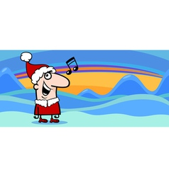 Christmas greeting card cartoon vector