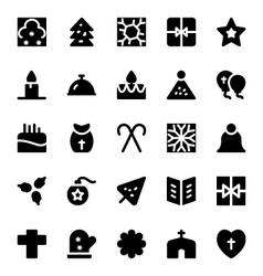 Christmas icons 8 vector