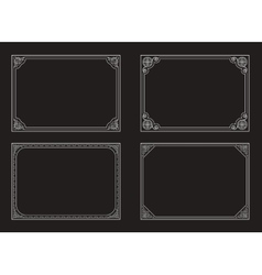 Decorative vintage frames and borders set vector image vector image