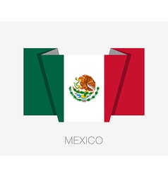 Flag of mexico flat icon wavering vector
