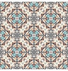 Floral pattern blue brown flower weave elements vector