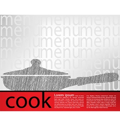 Frying pan kitchen utensils vector image