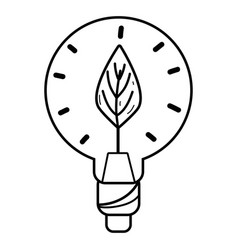 Line bulb with leaf inside to reduce energy vector