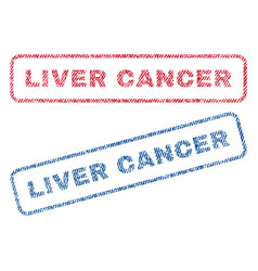 Liver cancer textile stamps vector