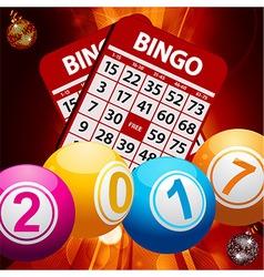 New years bingo balls background vector