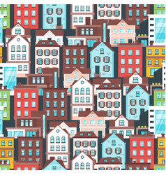 pattern with city buildings vector image vector image