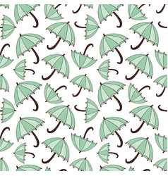 Pattern with umbrellas seasonal seamless vector