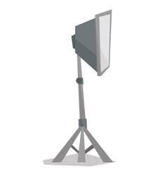 Photo studio lighting equipment vector image