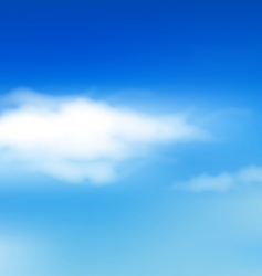 Sky with clouds vector