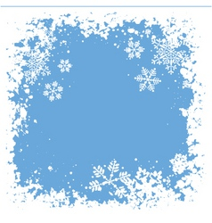 Snowflake grunge vector
