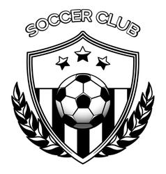 Soccer club logo on white vector image vector image