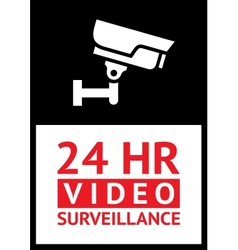 Sticker camera surveillance vector image vector image
