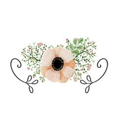 Wedding poppy flower vector image vector image