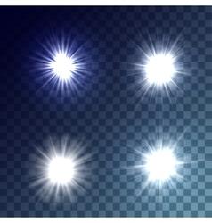White suns set vector
