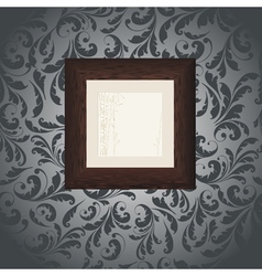 wood frame wallpaper vector image vector image