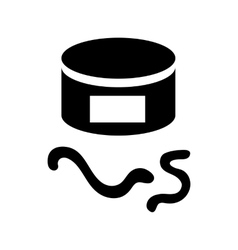 Tin of earthworms icon simple style vector