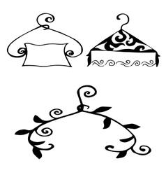 igh quality original set of hangers for model vector image