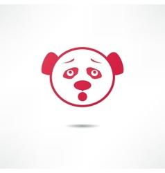 Surprised panda vector image
