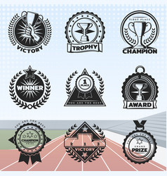 vintage sport rewards labels set vector image