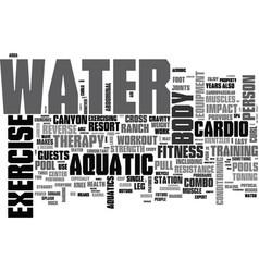 Aquatic exercise equipment text word cloud concept vector