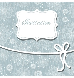 Beautiful floral invitation card eps10 vector
