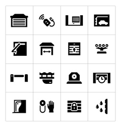 Set icons of automatic gates vector