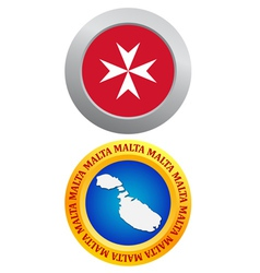 Button as a symbol malta vector
