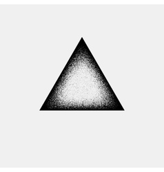 Abstract triangle badge vector